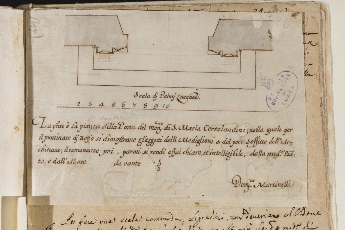 Lucca - Disegno Biblioteca Statale